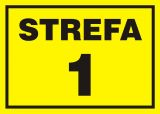 1 Strefa zagrożenia wybuchem - znak ostrzegający, informujący - NB002 - Znaki antystatyczne, kopalnie