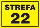 22 Strefa zagrożenia wybuchem - znak ostrzegający, informujący - NB008