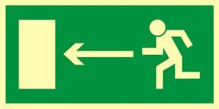 AA003 - Kierunek do wyjścia drogi ewakuacyjnej w lewo - znak ewakuacyjny