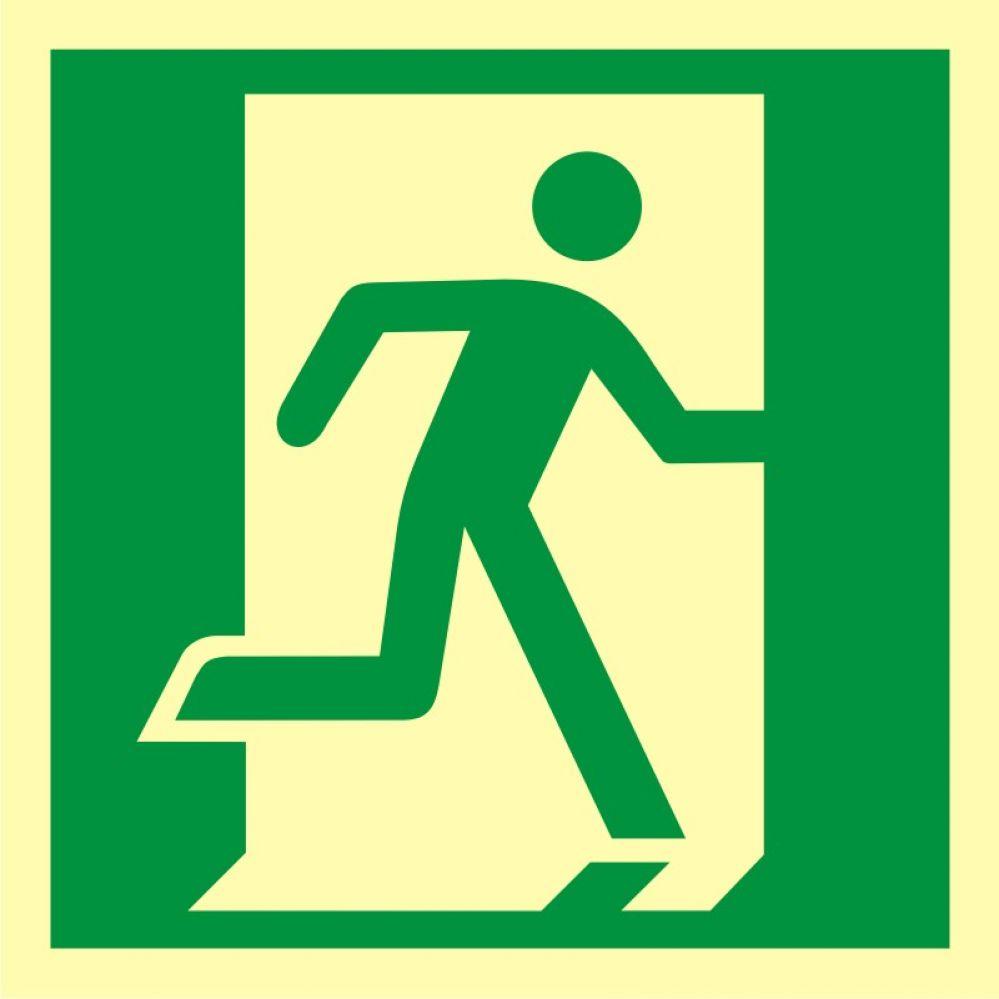 AA009 - Drzwi ewakuacyjne - znak ewakuacyjny