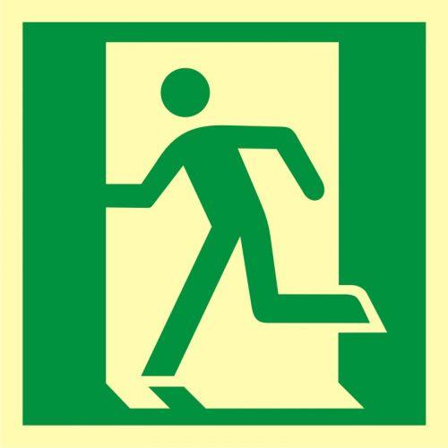 AA010 - Drzwi ewakuacyjne - znak ewakuacyjny - Stara czy nowa norma? Jakie znaki bezpieczeństwa wybrać?