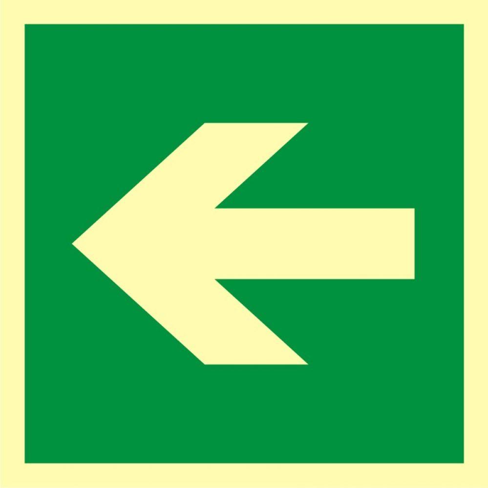 AA013 - Kierunek drogi ewakuacyjnej - znak ewakuacyjny