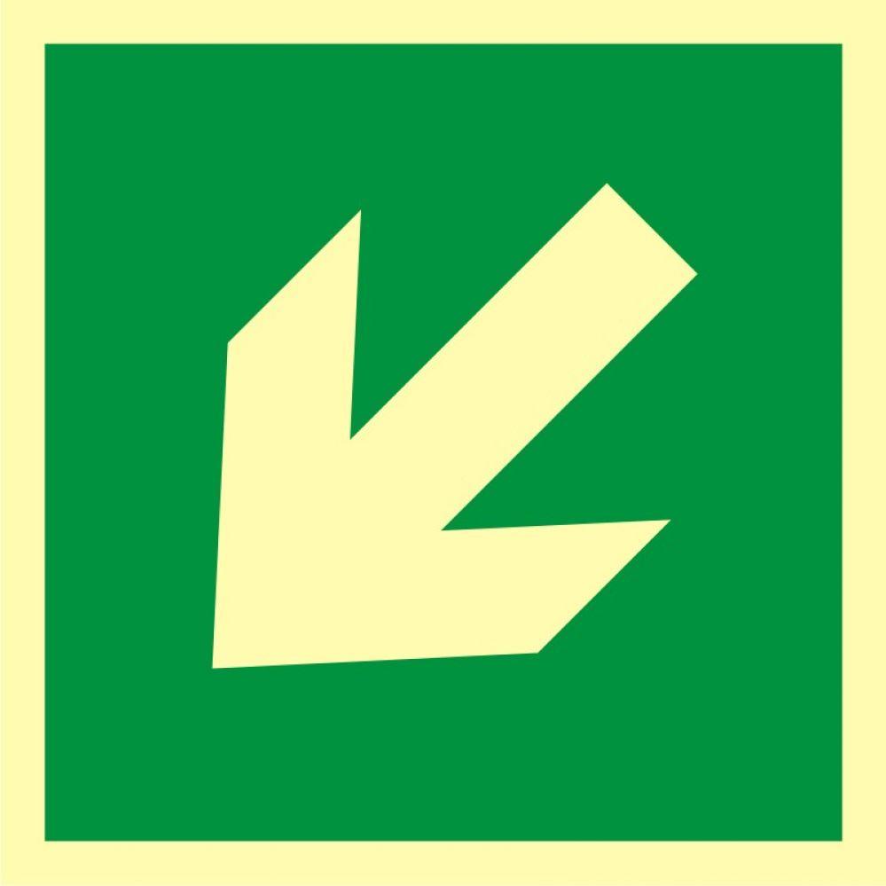 AA014 - Kierunek drogi ewakuacyjnej - znak ewakuacyjny