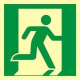 AAE002 - Wyjście ewakuacyjne (prawostronne) - znak ewakuacyjny - Znaki ewakuacyjne w szkole