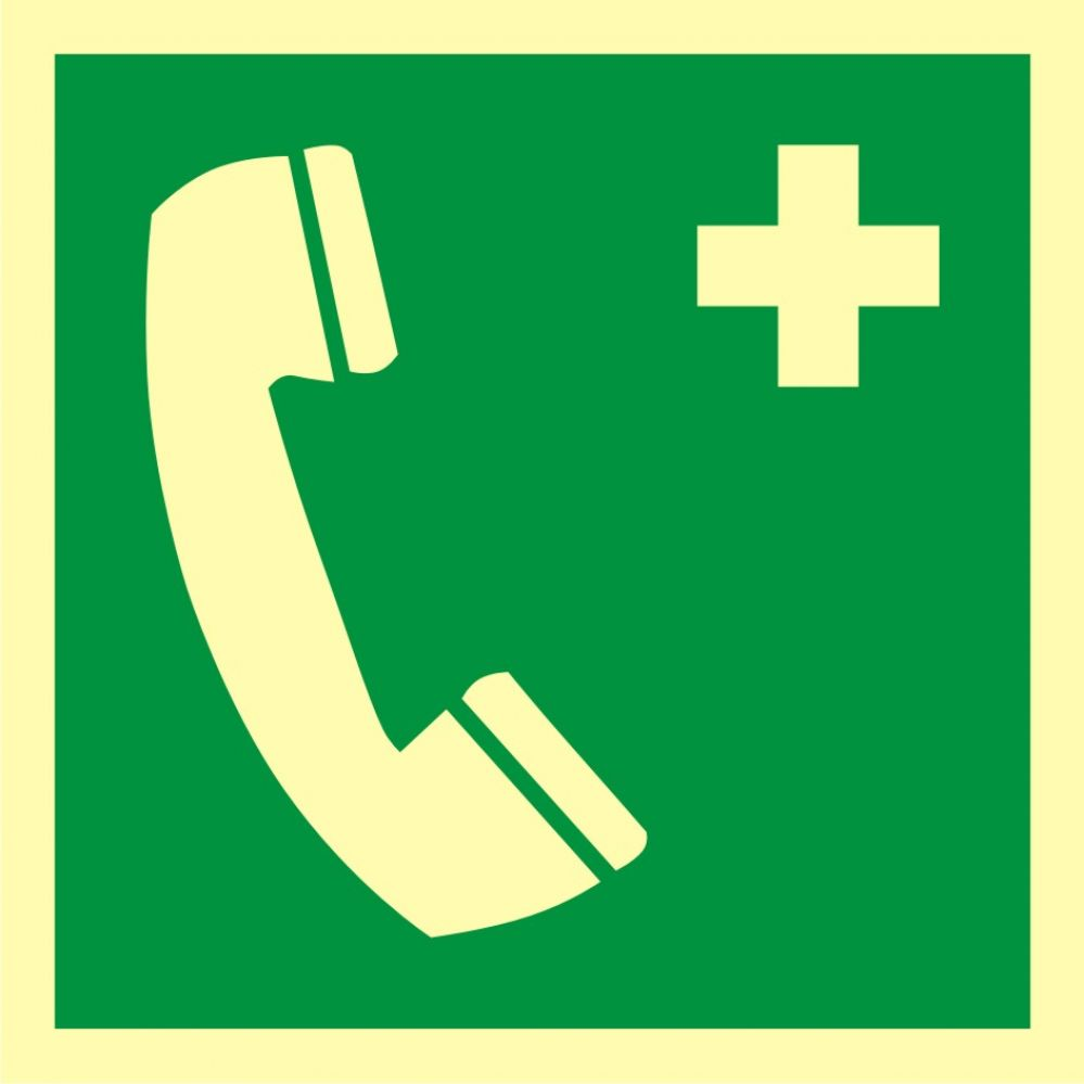 AAE004 - Telefon alarmowy - znak ewakuacyjny