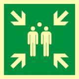 AAE007 - Miejsce zbiórki do ewakuacji - znak ewakuacyjny - Dopuszczenie do użytkowania – znaki bezpieczeństwa