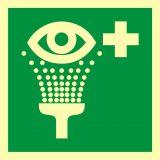 AAE011 - Prysznic do przemywania oczu - znak ewakuacyjny - Substancje łatwopalne – piktogramy CLP