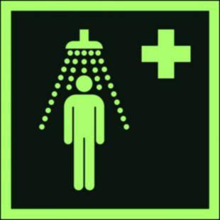 AAE012 - Prysznic bezpieczeństwa - znak ewakuacyjny