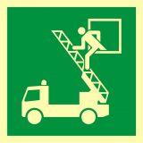 AAE017 - Okno ratunkowe - znak ewakuacyjny - Znaki bezpieczeństwa – wymagania konstrukcyjne i normy