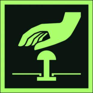 AAE020 - Przycisk awaryjnego zatrzymania - znak ewakuacyjny