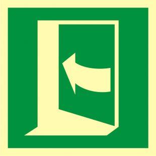 AAE022 - Pchać aby otworzyć drzwi (lewe) - znak ewakuacyjny