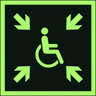 AAE024 - Miejsce zbiórki do ewakuacji dla osób niepełnosprawnych