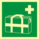 AAE027 - Medyczna torba przenośna - znak ewakuacyjny - Fotoluminescencyjne znaki bezpieczeństwa