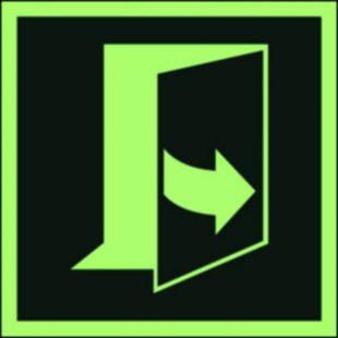 AAE057 - Ciągnąć aby otworzyć drzwi (prawe) - znak ewakuacyjny