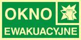 AC009 - Okno ewakuacyjne - znak ewakuacyjny - Znaki ewakuacyjne w szkole