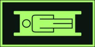 AC011 - Miejsce składowania noszy - znak ewakuacyjny