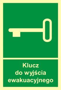AC029 - Klucz do wyjścia ewakuacyjnego - znak ewakuacyjny