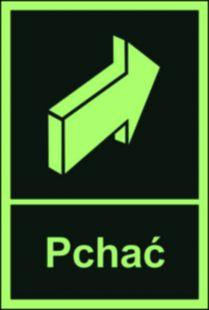 AC037 - Pchać - znak ewakuacyjny