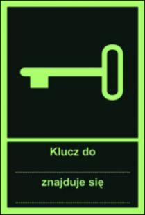 AC048 - Klucz do... znajduje się ... - znak ewakuacyjny