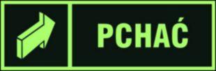 AC050 - Pchać - znak ewakuacyjny