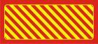 AC270 - Odbojnica płaska nieświecąca czerwono-żółta