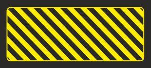 AC272 - Odbojnica płaska nieświecąca czarno-żółta