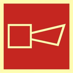 Alarmowy sygnalizator akustyczny - znak przeciwpożarowy ppoż - BA009