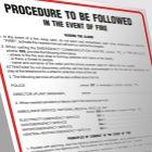 Angielska instrukcja postępowania w przypadku powstania pożaru- Procedure to be followed in the event of fire