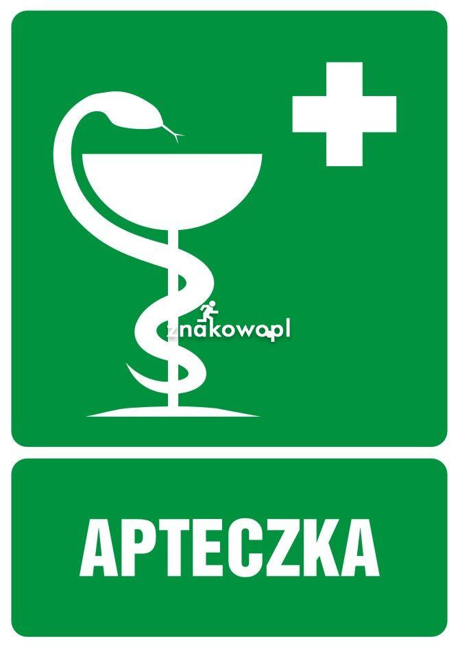 Apteczka pierwszej pomocy - Obiekty handlowe – znaki bezpieczeństwa i tablice informacyjne