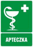 Apteczka pierwszej pomocy - znak bhp informujący - GI008 - Biurowiec – jakie oznaczenia są konieczne?