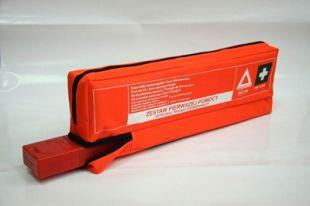 Apteczka samochodowa DIN 13164 45x14x5 + trójkąt ostrzegawczy