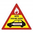 Auto zasilane gazem - znak, naklejka samochodowa - SC011
