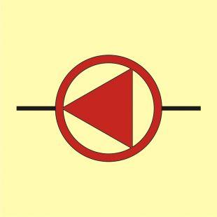 Awaryjne pompy pożarnicze - znak morski - FI050