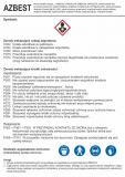 Azbest - etykieta chemiczna, oznakowanie opakowania - LC024 - Praca przy materiałach niebezpiecznych
