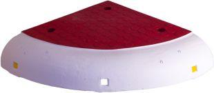 Azyl drogowy, wysepka drogowa PCV OAN - element narożny, narożnik 50x50x10cm