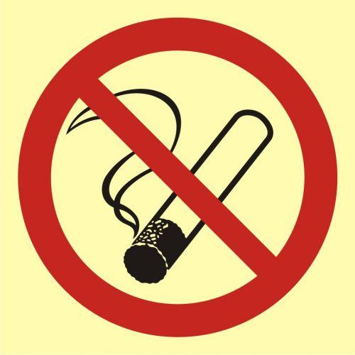 BA001 - Palenie tytoniu zabronione - znak przeciwpożarowy ppoż - Warsztat samochodowy – bezpieczeństwo i znaki BHP