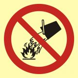 BA003 - Zakaz gaszenia wodą - znak przeciwpożarowy ppoż - Norma PN-92-N-01256-01