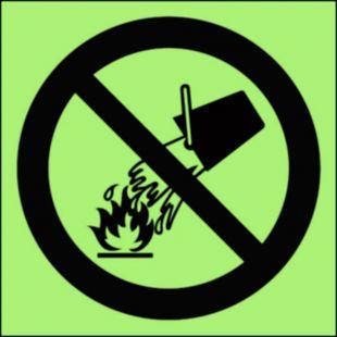 BA003 - Zakaz gaszenia wodą - znak przeciwpożarowy ppoż