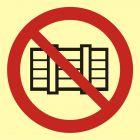 BA004 - Nie zastawiać - znak przeciwpożarowy ppoż