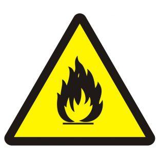 BA014 - Niebezpieczeństwo pożaru - materiały łatwopalne - znak przeciwpożarowy ppoż