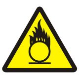 BA015 - Materiały utleniające - znak przeciwpożarowy ppoż - Organizacja stanowisk pracy a bezpieczeństwo pracowników