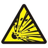 BA016 - Niebezpieczeństwo wybuchu - materiały wybuchowe - znak przeciwpożarowy ppoż - Stałe urządzenia gaśnicze