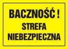 Baczność! Strefa niebezpieczna - znak, tablica budowlana - OA079
