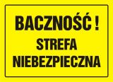 Baczność! Strefa niebezpieczna - znak, tablica budowlana - OA079 - Ogrodzenie placu budowy a przepisy, prawo i cena – czym ogrodzić teren?