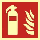 BAF001 - Gaśnica - znak przeciwpożarowy ppoż - Dopuszczenie do użytkowania – znaki bezpieczeństwa