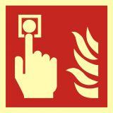 BAF005 - Alarm pożarowy - znak przeciwpożarowy ppoż - Dopuszczenie do użytkowania – znaki bezpieczeństwa