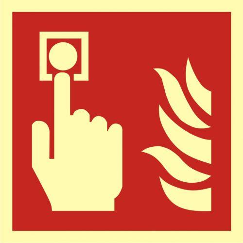 BAF005 - Alarm pożarowy - znak przeciwpożarowy ppoż - Znaki ochrony PPOŻ – stara a nowa norma