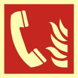 BAF006 - Telefon alarmowania pożarowego - znak przeciwpożarowy ppoż - Znaki ochrony przeciwpożarowej PN-EN ISO 7010