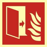 BAF007 - Drzwi przeciwpożarowe - znak przeciwpożarowy ppoż - Dopuszczenie do użytkowania – znaki bezpieczeństwa