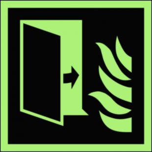 BAF007 - Drzwi przeciwpożarowe - znak przeciwpożarowy ppoż
